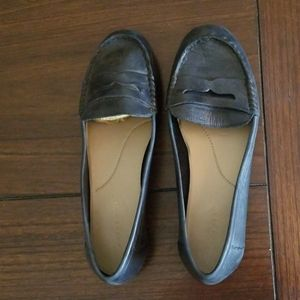 Easy Spirit navy leather penny loafers EUC